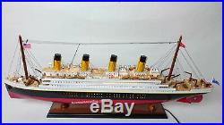 RMS TITANIC OCEAN LINER WITH LED LIGHTS 40 Handcrafted Wooden Model NEW