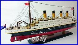 RMS TITANIC Ocean Liner Model 24 Handcrafted Wooden Model