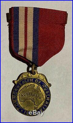 Rare 1908 Original Medal Great White Fleet Visit To Australia Us Navy