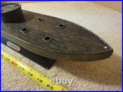 Rare! USS Monitor 1862 American Civil War, shelf, display resin model iron ship