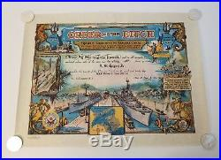 Rare Vintage Order of the Ditch Panama Canal Navy Tiffany Publishing Co