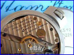 Rarest Official 1942 Ww2 Hamilton Model M22 U. S. Navy Deck Chronometer &wood Box