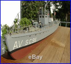 Readybuilt 1/74 WW1 U. S. Subchaser SC 96 SC-1 class North Atlantic convoy 60ties