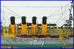 Russian Protected Cruiser Varyag Handmade Wooden Ship Model 31