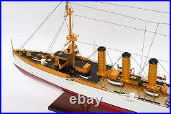 SMS Emden Light Cruisers German Navy Handcrafted Wooden Model NEW