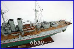 SMS Viribus Unitis Dreadnought Battleship Handcrafted Wooden Ship Model