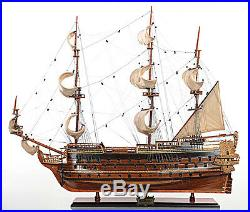 Saint Esprit French Wooden Model 33 Tall Ship Sailboat Fully Built Boat New