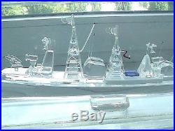 Souvenir. Handmade. Model of a military ship. Plexiglass. 1976. USSR