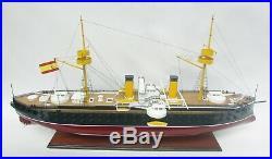 Spanish Pelayo 1887 Battleship Model 43 Handcrafted Wooden Model NEW