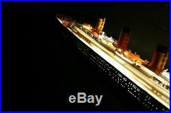 TITANIC MODEL SHIP 27' + LED & RIGGED RMS TITANIC OCEAN LINER White Star Line