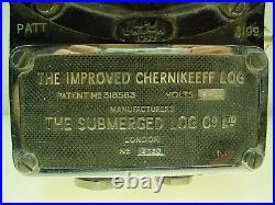 The Improved Submerged Log Chernikeeff Bridge Mounted Nautical Miles Gauge -rare
