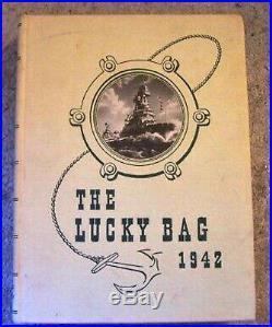 USN Navy Naval Academy Yearbook 1942 Lucky Bag Ship Men War Battle Reunion Class
