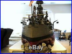 USS Arizona Battleship Model (Large) scale 1/4 = 1'- 0. Over 12 feet long