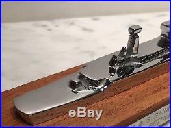 USS Bainbridge DLGN-25 1961 Launch Commemoration Chrome Model, Bethlehem Steel