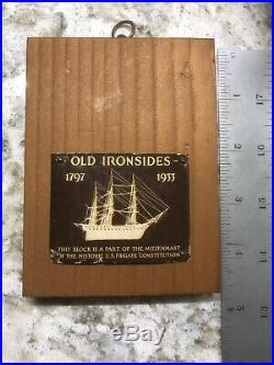 USS CONSTITUTION RESTORATION Souviner OLD IRONSIDES Relic Wood Salvage Artifact