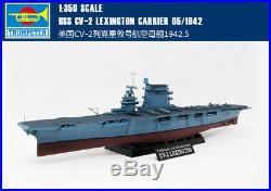 USS CV-2 LEXINGTON CARRIER 05/1942 1/350 ship Trumpeter model kit05608