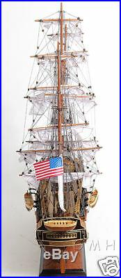 USS Constitution Old Ironsides Model 29 Tall Ship with Opening Front Display Case