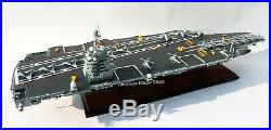 USS Gerald R. Ford CVN 78 Aircraft Carrier Handcrafted Wooden Model Scale 1/350