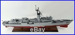 USS Knox DE-1052/FF-1052 Class Destroyer Battleship Handcrafted Wooden Model 35