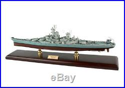 USS MISSOURI BB63 Battleship MBBMO Wooden Model Ship Boat Assembled