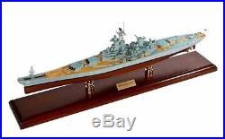USS New Jersey BB-62 Battleship Ship Wood Model Boat Assembled