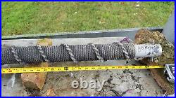 USS Oliver Hazard Perry FFG-7 Post with rope covering by sailor