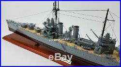 USS Savannah CL-42 Battleship Model 40 Handcrafted Wooden Model Scale 1180