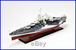 USS West Virginia BB-48 Colorado-class Battleship Handmade Wooden Ship Model 37