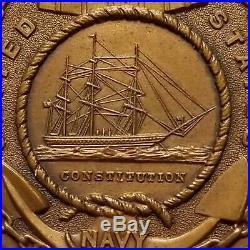 US NAVY SHIP USS HANCOCK pre WWI CONDUCT Medal Date 1908 Named FRANK BRADEEN #'d