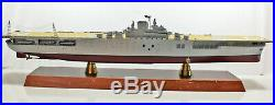 US Navy Aircraft Carrier USS Hornet CV-8 Wood Desktop Model DAMAGED 40 Inch