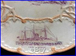 US Navy Great White Fleet Platter USS Maine, Baltimore, Nashville, Iowa, Indiana