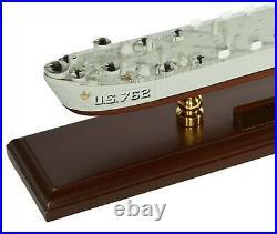 US Navy LST Boat 24 Landing Ship Tank Desk Top Display War 1/175 WW2 ES Model