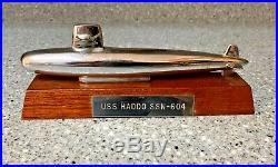 US Navy USS HADDO SSN-604 Desk Display Submarine Sub HEAVY METAL Boat Model