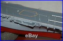 US Navy USS Intrepid Aircraft Carrier CV-11 1/350 Scale Wood Desktop Model Ship