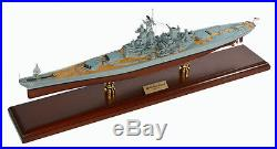 US Navy USS New Jersey BB-62 Desk Display 1/350 WWII Battleship Ship ES Model