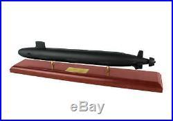 US Navy Virginia Class SSN Desk Display Submarine Sub Boat 1/190 Ship ES Model