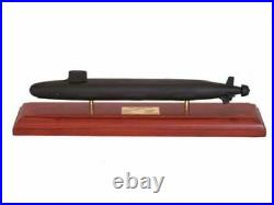 US Navy Virginia Class SSN Desk Top Display Submarine Ship 1/350 Wood ES Model