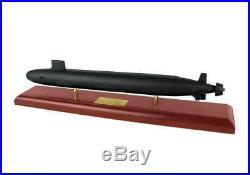 US Navy Virginia Class Submarine Built 24 Wood Model Ship Assembled