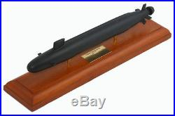 US Navy Virginia Class Submarine MBSVCTR Wood Model Ship Assembled