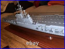 U. S Navy Aircraft Carrier USS Franklin Roosevelt Wood 34 Model Ship Assembled