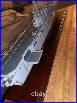 U. S Navy Aircrat Carrier Wasp Class Wood 29 Model Ship Assembled 1/350