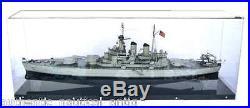 U. S. S. North Carolina Bb-55 Vintage Warship Model Scratch Built Original Hi Qual