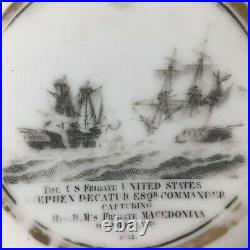 Undocumented  WAR OF 1812 DECATUR Staffordshire saucer capture MACEDONIAN