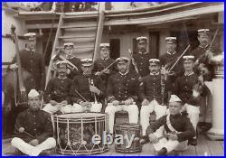 Vintage 1898 HMS Raleigh Naval Band