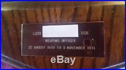 Vintage Navy USS WHIPPLE DE-1062 Ships award plaque