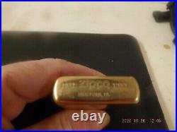 Vintage New Solid Brass Zippo Lighter Of H M C S Halifax F F M-330 1932-1989