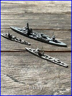 WW2 Comet Metal Warship ID Models Essex Carrier Iowa Chicago North Carolina Navy