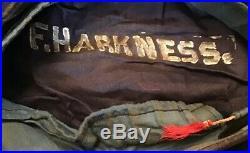 WW 1 USS FINLAND US NAVY SAILOR HAT TALLY RARE SHIP Named Harkness