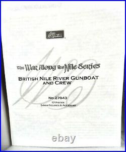 W. Britain 54mm #27043 British Nile Gunboat +++ metal/resin/ foam 2011 MIB OOP