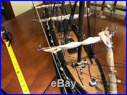 Wooden model sailing ship Man of War Fragata Espanola ANO 1780 built up all wood